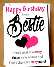 happy birthday bestie wishes, messages, cards, & greetings